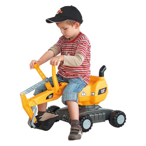 Rolly Toys ロリートイズ ROLLY DIGGER ディガー CAT~ドイツ・Rolly Toysのアームの付いた足けりタイプのショベルカーです。3歳からお楽しみいただけます。【ラッピング不可】