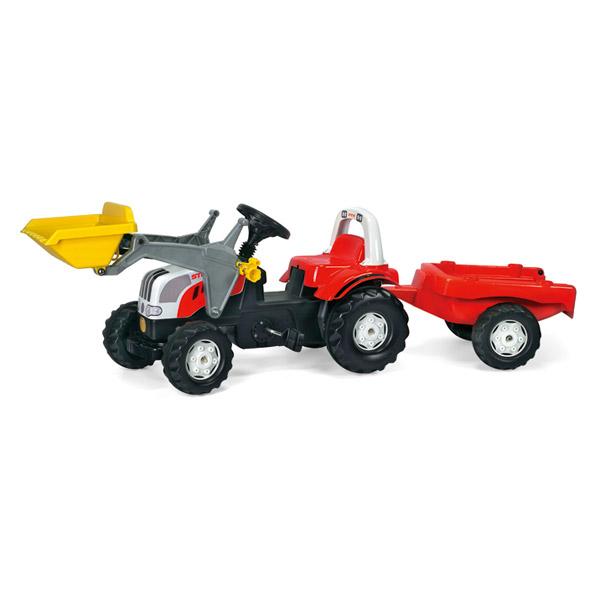 Rolly Toys ロリートイズ ROLLY KIDS ステアキッズ~ドイツ・Rolly Toysのフロントローダー&トレーラー付きのペダル式の働く車の乗用玩具です。2歳半からおたのしみいただけます。【ラッピング不可】