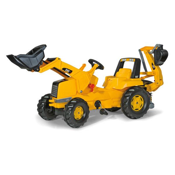 Rolly Toys ロリートイズ ROLLY JUNIOR CAT ジュニアトラック~ドイツ・Rolly Toysの前後にショベルが付くペダル式の働く車の乗用玩具です。3歳からお楽しみいただけます。【ラッピング不可】