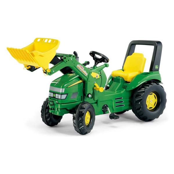 Rolly Toys ロリートイズ X-TRAC ジョンディアー トラックローダー John Deere~ドイツ・Rolly Toysのフロントローダー付きの働く車のペダル式乗用玩具です。3歳からお楽しみいただけます。【ラッピング不可】