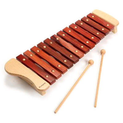 Play Me Toys プレイミートーイズ 木琴 12音~Play Me Toysの子供用楽器の木琴です。 ダイアトニックスケールで、ドレミファソラシドレミファソの12音が揃っています。