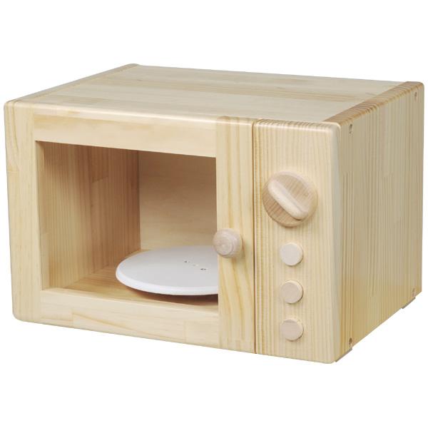 ブロック社 電子レンジ~幼稚園・保育園にオススメなブロック社の木製おままごとキッチンアイテム。おままごと、ごっこ遊びのコーナー作りにピッタリです。