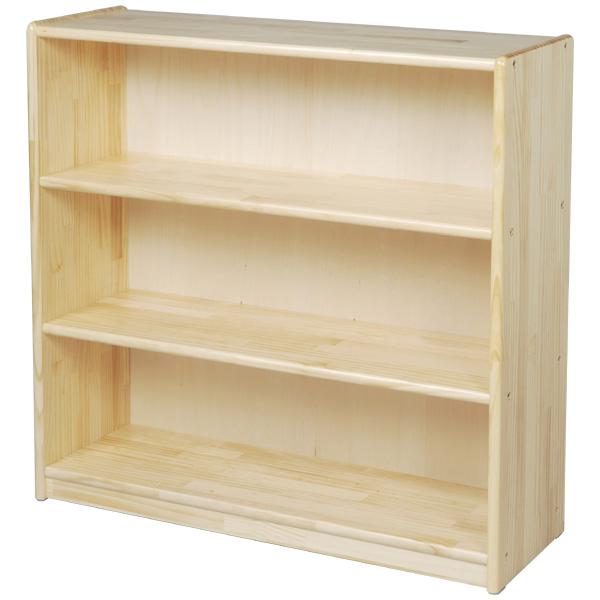 ブロック社 白木棚<大>背板付~幼稚園・保育園にオススメなブロック社の木製子供用収納家具。収納に便利な白木棚です。