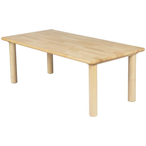 ブロック社 角テーブル 120×60 丸脚<H51>~幼稚園・保育園にオススメなブロック社の木製子供用家具。耐久性が優れたテーブルです。【5歳児用】
