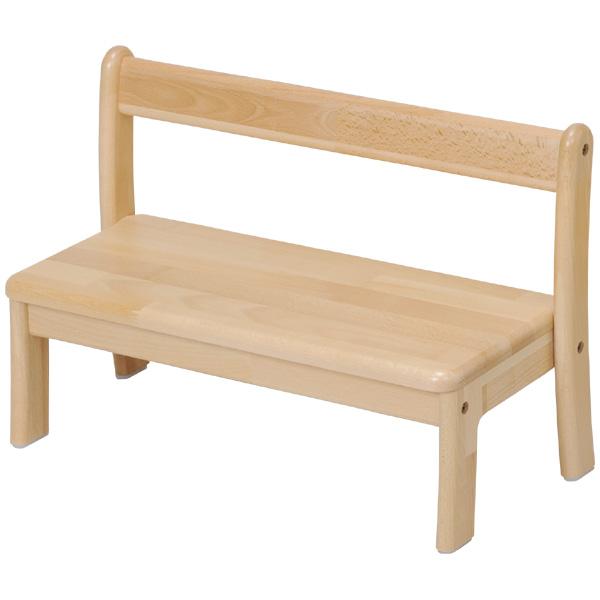 ブロック社 ベンチ乳児用2人掛け<座高18>~幼稚園・保育園にオススメなブロック社の木製子供用家具。子子どもたちが快適に座れるようデザインされたベンチです。【2歳児用】