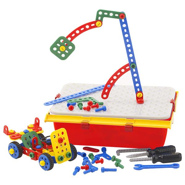 BorneLund ボーネルンド ケルチェッティ ビルダーキット テクノ ツールボックス~イタリア・ケルチェッティ社の子どもの大好きな「ネジ」と「工具」が、持ち運びできるツールボックスに入った組み立て遊び工具セットです。本格的な大工さんごっこを楽しめます。