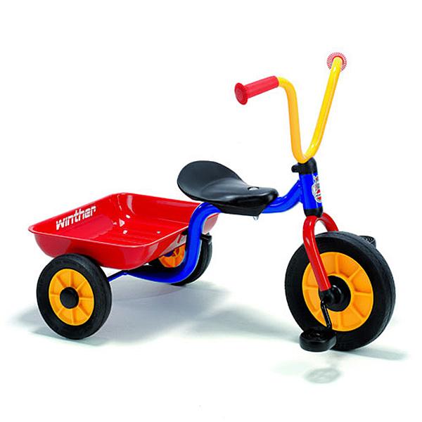 BorneLund ボーネルンド Winther ウィンザー社 ペリカンデザイン三輪車 Vハンドル カラー(荷台つき)~洗練されたデザインの三輪車。デンマーク・ウィンザー社の荷台付き三輪車です。【簡易ラッピング】