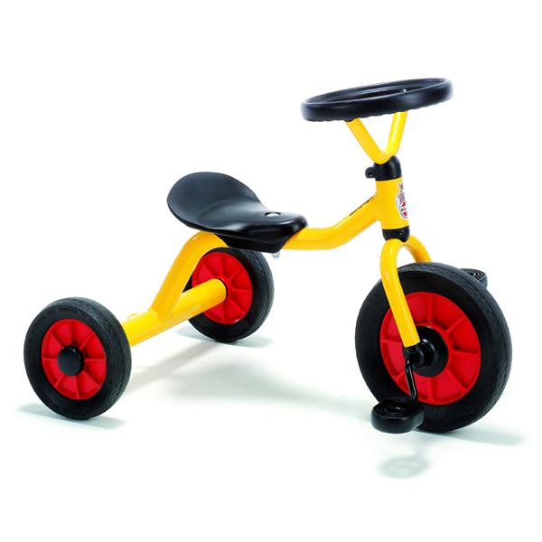 BorneLund ボーネルンド Winther ウィンザー社 ペリカンデザイン三輪車 丸ハンドル 黄色~洗練されたデザインと、運転しやすい丸ハンドルが特徴の三輪車。デンマーク・ウィンザー社の三輪車です。【簡易ラッピング】