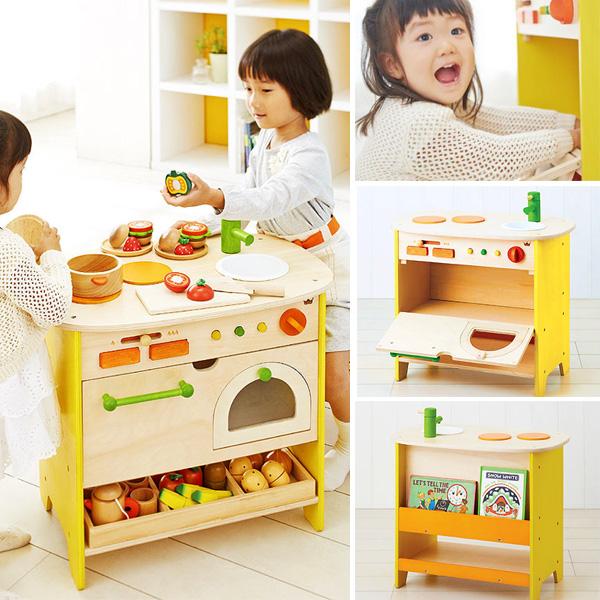 Ed.inter エドインター 森のアイランドキッチン~エドインターのコミュニケーションツールとして遊べるアイランド型(対面型)の木製おままごとキッチンです。