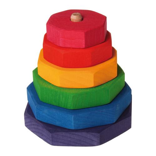 Grimms Spiel (5種) GM色と形つみき Holz Design グリムス社 〜ドイツ、グリムス社の子どもの五感を刺激する7色5種類の積み木セット。 レインボーカラーの積み木はお子さまの創造性を育みます。 /&
