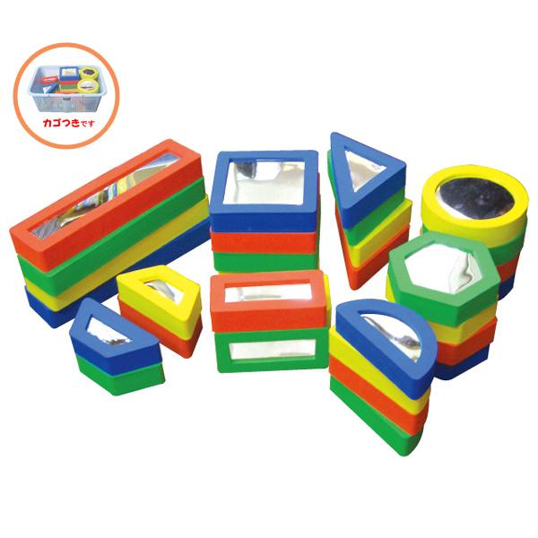 一歩社 はじめしゃ ミラーブロック(壁面用)~一歩社(はじめしゃ)の壁を使った遊びが楽しめるEVAスポンジ製のおもちゃ・遊具。スポンジ製のブロックで片面に割れないミラーが付いています。