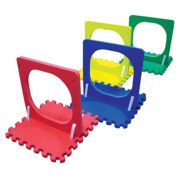 一歩社 はじめしゃ わくぐりトンネル 4台セット~一歩社(はじめしゃ)のお子さまの運動や運動会にオススメのおもちゃ・遊具。横に組み立てて運動会のわくぐり競技に使います。