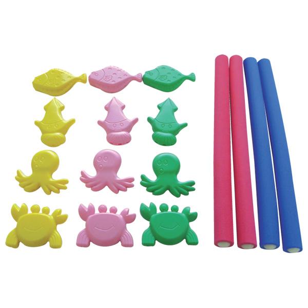 【代引手数料・送料無料】【085】【幼稚園 保育園 おもちゃ 施設向け 児童館 プレイルーム キッズルーム 遊具】 一歩社 はじめしゃ お魚とったぞ~~一歩社(はじめしゃ)のプール遊びに大活躍の水遊びのおもちゃ・遊具。水底に沈む海の生き物をもりでくっつけて獲るゲームです。