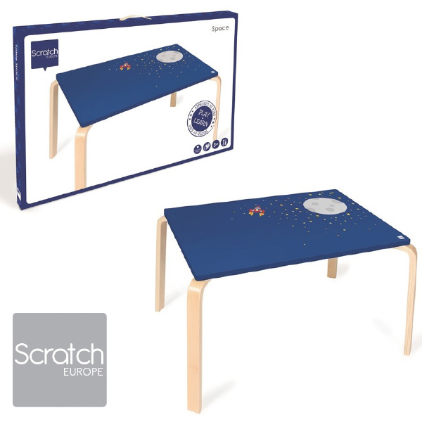 Scratch スクラッチ キッズテーブル スペース子供部屋のインテリアに人気、ベルギーのおもちゃメーカーScratch(スクラッチ)の子ども用の家具、木製のテーブル、デスクです。