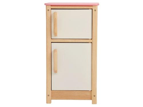 I'm Toy アイムトイ マイプレイキッチン 冷蔵庫~ドアが開閉するので、おもちゃも収納できる可愛いアイムトイのおままごと木製冷蔵庫です。