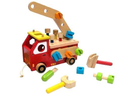 I'm TOY アイムトイ アクティブ消防車~大きなサイズの組み立て消防車!