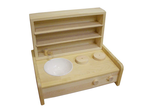 木遊舎 ミニキッチン・棚BOXセット~木遊舎の卓上タイプの木製ミニキッチンと棚BOXのセットです。【ラッピング不可】【代引き決済不可】