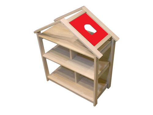 木遊舎 ドールハウス本立て~本立てにもなる木遊舎の木製ドールハウスです。【ラッピング不可】【代引き決済不可】