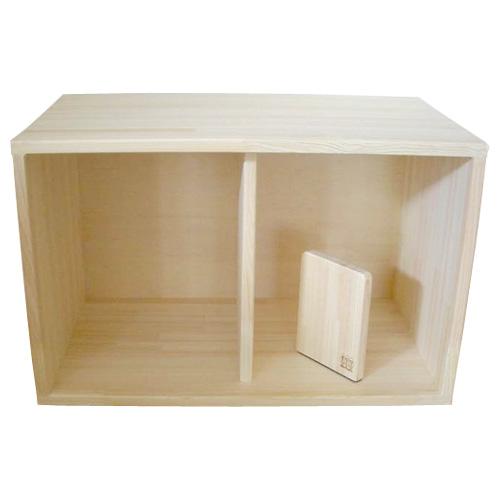 木遊舎 収納BOX 60cm low ひのき~愛媛県伊予市中山町の木遊舎の自社工房で手作りされた日本製の木製収納箱です。【ラッピング不可】【代引き決済不可】