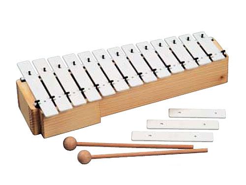Goldon ゴールドン社 アルト メタロフォン サウンドチャンパー 13音~ドイツの子供用楽器メーカーGoldon(ゴールドン)の深い音の響きが美しいチャンパー(共鳴箱)つきの鉄琴です。