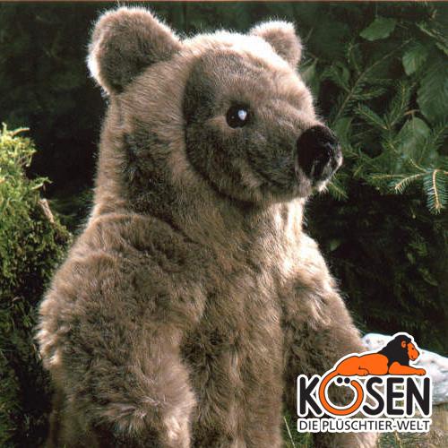 3090~ドイツ・KOESEN/KOSEN(ケーセン社)の動物のぬいぐるみ。愛らしい表情の熊(くま/クマ)のぬいぐるみです。出産祝い プレゼント (大) ケーセン社 結婚記念日 出産したママへのご褒美にもおすすめ クリスマス ブラウンベア KOESEN