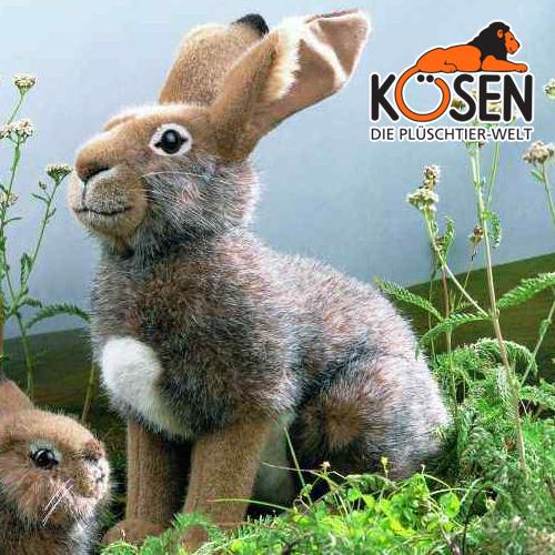 KOESEN ケーセン社 野うさぎ 5100~ドイツ・KOESEN/KOSEN(ケーセン社)の動物のぬいぐるみ。愛らしい表情の兎(うさぎ/ウサギ)のぬいぐるみです。出産祝い クリスマス プレゼント 結婚記念日 出産したママへのご褒美にもおすすめ