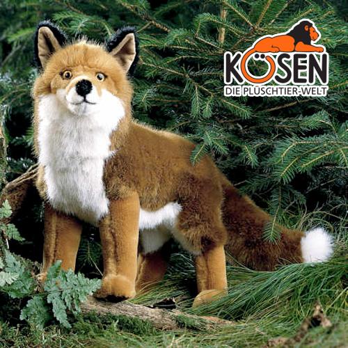 KOESEN ケーセン社 きつね 3790~ドイツ・KOESEN/KOSEN(ケーセン社)の動物のぬいぐるみ。愛らしい表情のキツネのぬいぐるみです。出産祝い クリスマス プレゼント 結婚記念日 出産したママへのご褒美にもおすすめ