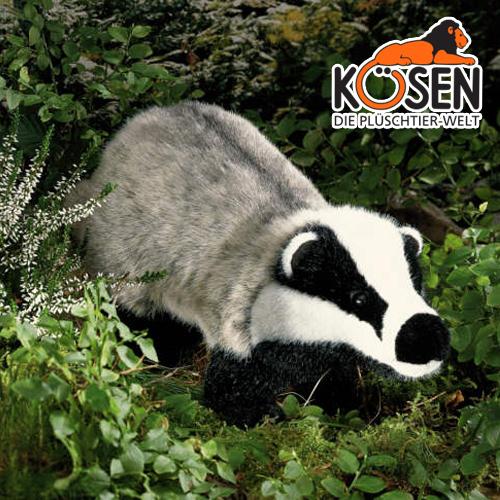 KOESEN ケーセン社 あなぐま 4240~ドイツ・KOESEN/KOSEN(ケーセン社)の動物のぬいぐるみ。愛らしい表情のアナグマのぬいぐるみです。出産祝い クリスマス プレゼント 結婚記念日 出産したママへのご褒美にもおすすめ