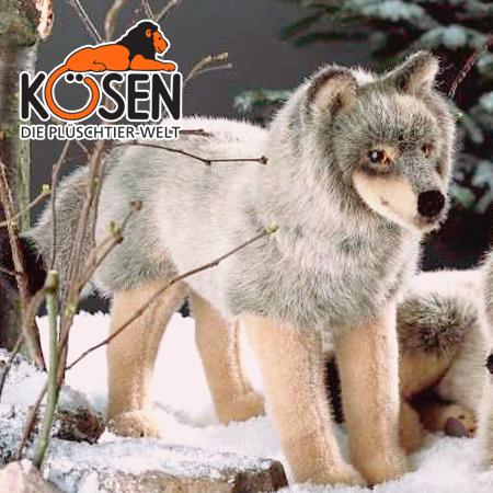 KOESEN ケーセン社 オオカミ 3840~ドイツ・KOESEN/KOSEN(ケーセン社)の動物のぬいぐるみ。愛らしい表情のおおかみのぬいぐるみです。出産祝い クリスマス プレゼント 結婚記念日 出産したママへのご褒美にもおすすめ