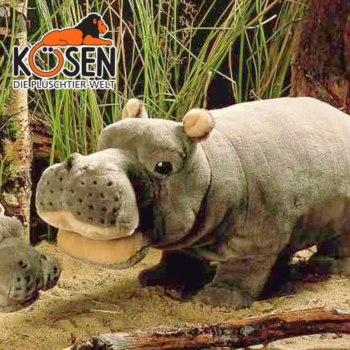 かば KOESEN プレゼント 出産したママへのご褒美にもおすすめ (小) ケーセン社 結婚記念日 1855~ドイツ・KOESEN/KOSEN(ケーセン社)の動物のぬいぐるみ。愛らしい表情のカバのぬいぐるみです。出産祝い クリスマス