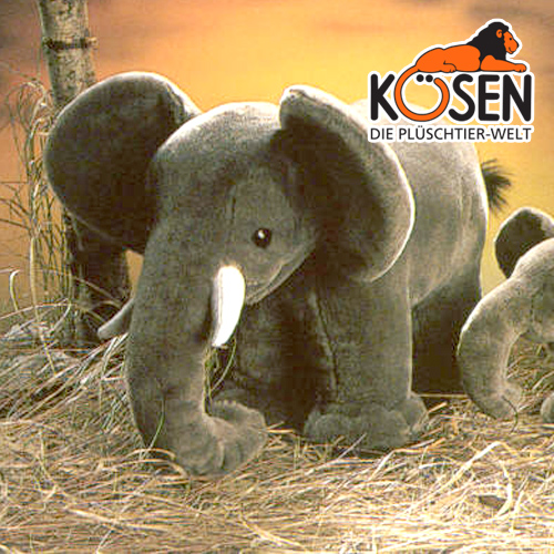 KOESEN ケーセン社 ぞう (小) 1955~ドイツ・KOESEN/KOSEN(ケーセン社)の動物のぬいぐるみ。愛らしい表情のゾウのぬいぐるみです。出産祝い クリスマス プレゼント 結婚記念日 出産したママへのご褒美にもおすすめ