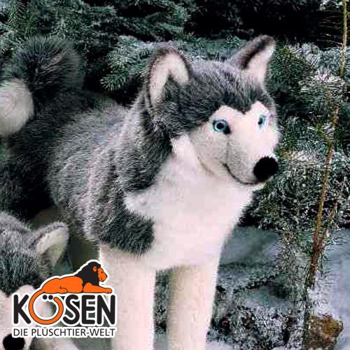結婚記念日 クリスマス 3860~ドイツ・KOESEN/KOSEN(ケーセン社)の動物のぬいぐるみ。愛らしい表情の犬(イヌ/いぬ)のぬいぐるみです。出産祝い 出産したママへのご褒美にもおすすめ KOESEN シベリアンハスキー ケーセン社 プレゼント