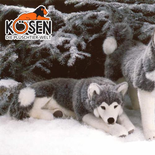 KOESEN ケーセン社 シベリアンハスキー 伏せ 3870~ドイツ・KOESEN/KOSEN(ケーセン社)の動物のぬいぐるみ。愛らしい表情の犬(イヌ/いぬ)のぬいぐるみです。出産祝い クリスマス プレゼント 結婚記念日 出産したママへのご褒美にもおすすめ