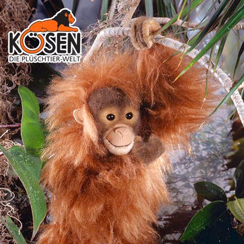 KOESEN ケーセン社 オランウータン 5710~ドイツ・KOESEN/KOSEN(ケーセン社)の動物のぬいぐるみ。愛らしい表情のオランウータンのぬいぐるみです。出産祝い クリスマス プレゼント 結婚記念日 出産したママへのご褒美にもおすすめ