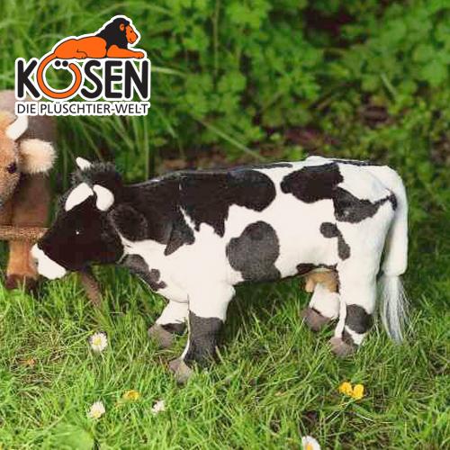 KOESEN ケーセン社 うし 黒白 3331~ドイツ・KOESEN/KOSEN(ケーセン社)の動物のぬいぐるみ。愛らしい表情の牛(うし/ウシ)のぬいぐるみです。出産祝い クリスマス プレゼント 結婚記念日 出産したママへのご褒美にもおすすめ