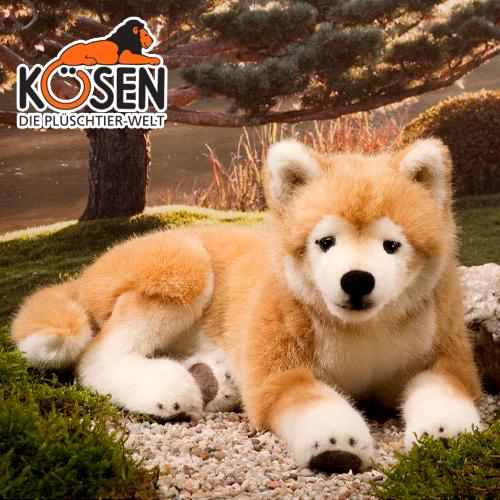 KOESEN ケーセン社 柴犬 伏せ 6230~ドイツ・KOESEN/KOSEN(ケーセン社)の動物のぬいぐるみ。愛らしい表情の犬(イヌ/いぬ)のぬいぐるみです。出産祝い クリスマス プレゼント 結婚記念日 出産したママへのご褒美にもおすすめ