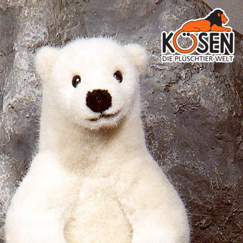 KOESEN ケーセン社 白くま (小) 3260~ドイツ・KOESEN/KOSEN(ケーセン社)の動物のぬいぐるみ。愛らしい表情のシロクマのぬいぐるみです。出産祝い クリスマス プレゼント 結婚記念日 出産したママへのご褒美にもおすすめ