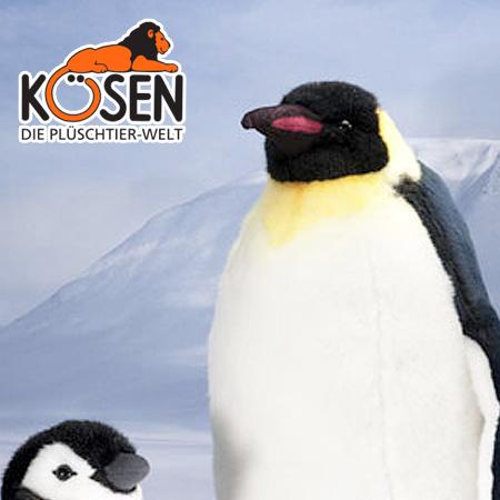 クリスマス 結婚記念日 KOESEN (大) プレゼント 出産したママへのご褒美にもおすすめ ケーセン社 皇帝ペンギン 6020~ドイツ・KOESEN/KOSEN(ケーセン社)の動物のぬいぐるみ。愛らしい表情のペンギンのぬいぐるみです。出産祝い