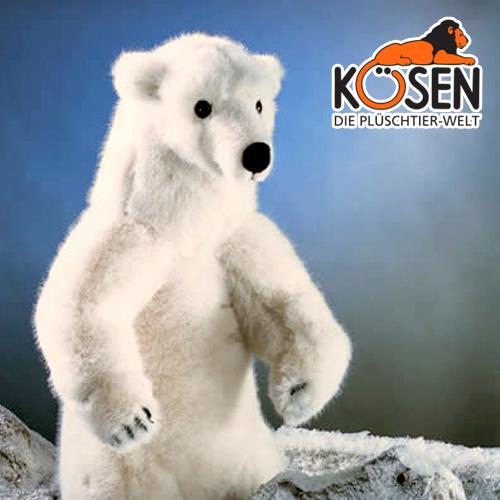KOESEN ケーセン社 白くま (大) 3240~ドイツ・KOESEN/KOSEN(ケーセン社)の動物のぬいぐるみ。愛らしい表情のシロクマのぬいぐるみです。出産祝い クリスマス プレゼント 結婚記念日 出産したママへのご褒美にもおすすめ