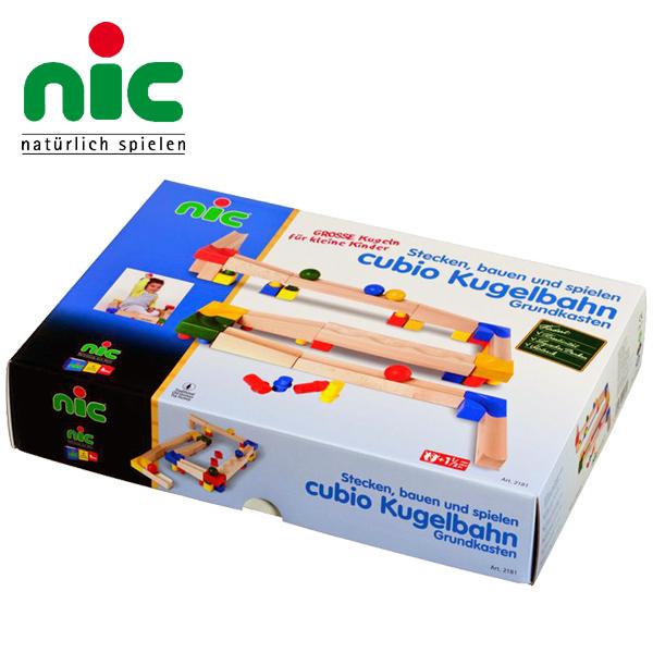 nic ニック社 CUBIO クビオ 玉の塔 基本セット 68ピース~ドイツ・nic(ニック社)の1歳頃から遊べる組み立て木製スロープ「CUBIO クビオ/キュビオ 玉の塔」シリーズ。存分にスロープ遊びが楽しめる68ピースセットです。