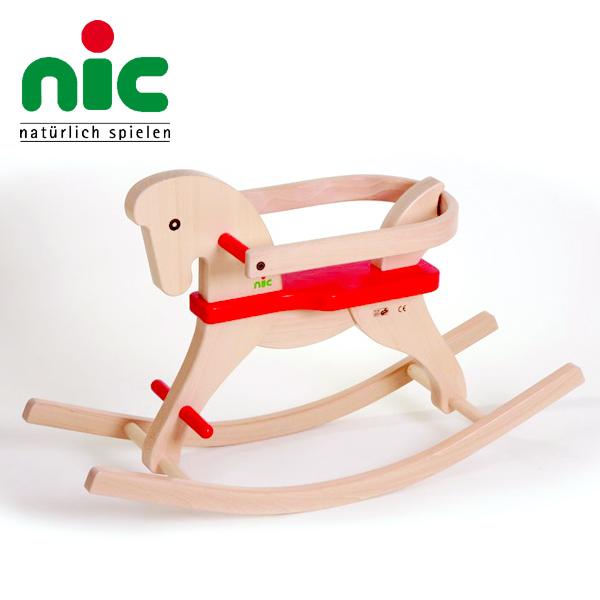 nic ニック社 CUBIO 木馬~ドイツ・nic(ニック社)の堅牢で美しいデザインの木馬「CUBIO 木馬」です。木製の乗り物といえば木馬/ロッキングホース!【ラッピング不可】