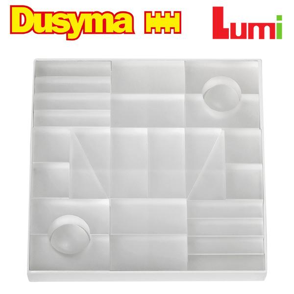 Dusyma デュシマ社 Lumi ブロック ホワイト 28ピース~ドイツのおもちゃメーカーDusyma(デュシマ社)の半透明のアクリル樹脂の積み木「Lumi ブロック」シリーズ。