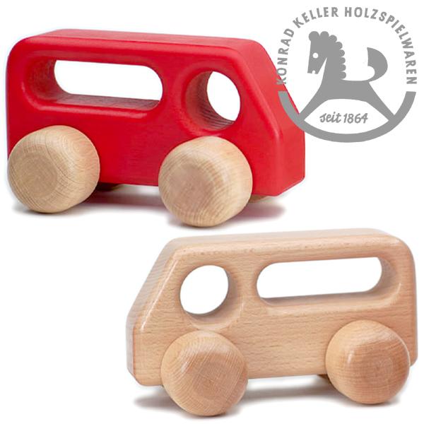 D9-5N D9-5R 誕生日プレゼント 1歳 1歳半 2歳 男の子 木のおもちゃ 木製玩具 知育玩具 出産祝い クリスマスプレゼント 子供 車 木製 ミニカー Keller ケラー社 くるま 赤 クリスマス 白木 大 Konrad のシンプルで美しいブナ材でできた木の車です 受注生産品 大幅にプライスダウン ~ドイツのおもちゃメーカーKonrad バス はじめての車のおもちゃにピッタリな木製ミニカーシリーズ