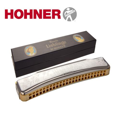 ホーナー社 リーベリンゲ HOHNER ハーモニカ 48穴~世界的に有名なドイツの楽器メーカーHOHNER(ホーナー社)の1穴1音で演奏がしやすいハーモニカ「リーベリンゲ」です。 (大)