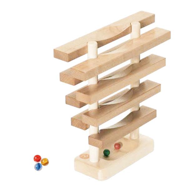 Albisbrunn アルビスブラン 玉の塔 レインドロップス〈遊びながら学ぶ、遊びを通して世界を知る〉。もみの木マークが目印のスイス、アルビスブランの玩具です。