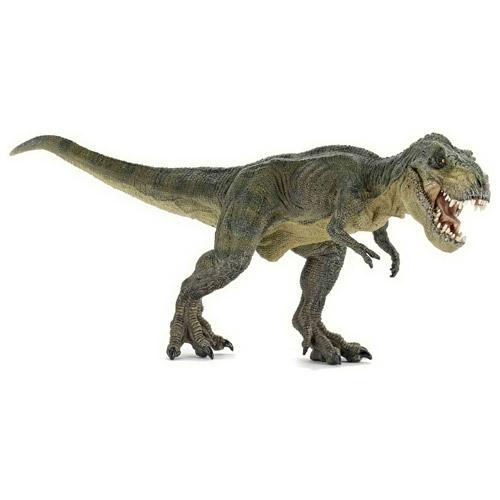 PAPO パポ社 T.レックス緑(走)~フランス、PAPO(パポ社)のDinosaursシリーズ、恐竜のフィギュア。大迫力のT・レックス(ティラノサウルス)のフィギュアです。