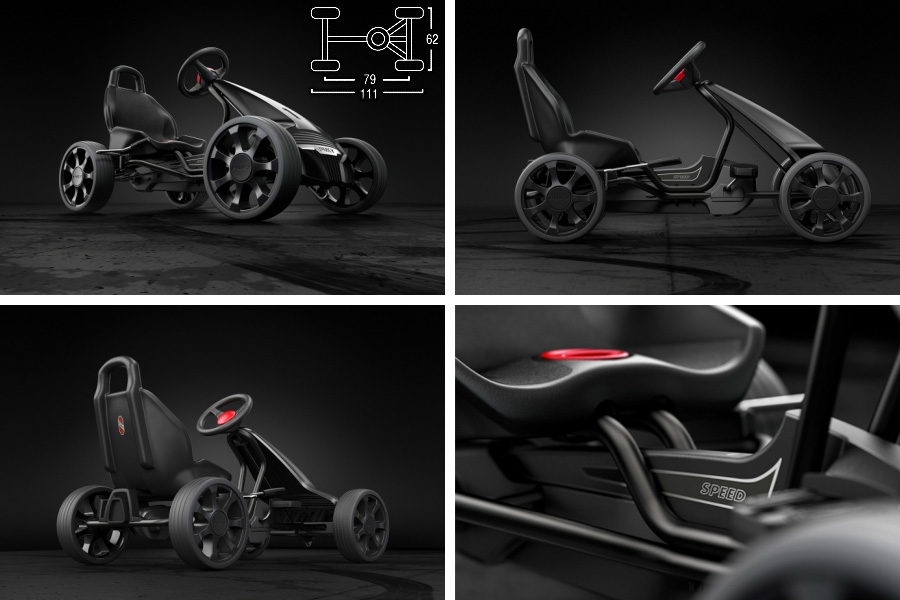 PUKY puckey 卡丁车 F 550 ~ 是号召德国 PUKY 的技术和设计实力的踏板车,完成。