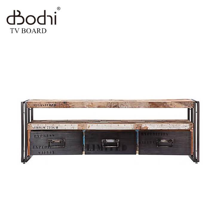 【送料無料】TVボードL160幅/110776(テレビボード 古材 アンティーク アイアン 鉄 木製 木目 ナチュラル) ポイント5倍