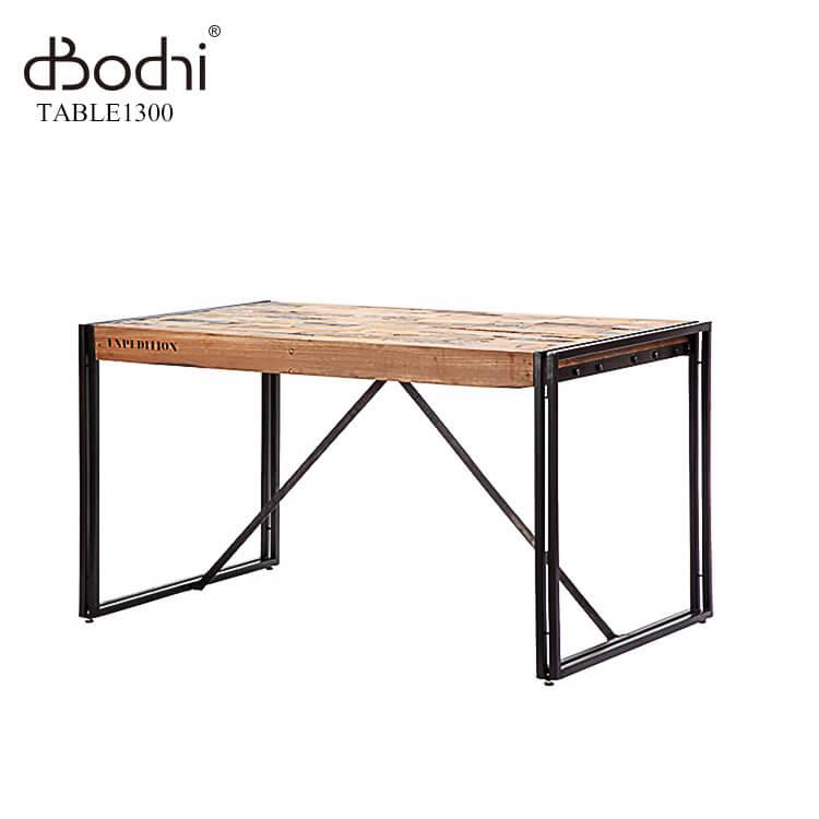 【送料無料】 ダイニングテーブル 130幅 110875 食卓テーブル 古材 アンティーク アイアン 鉄 木製 木目 ナチュラル