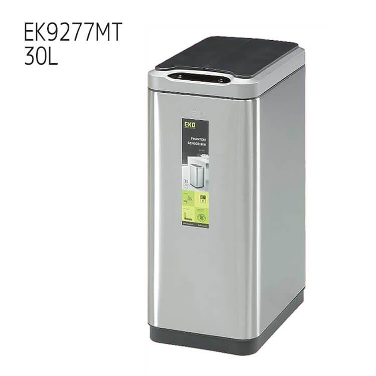 10日ポイント8倍 【送料無料】ゴミ箱 ダストボックス EKO ファントムセンサービン 30L EK9277MT シルバー PHANTOM SENSOR BIN